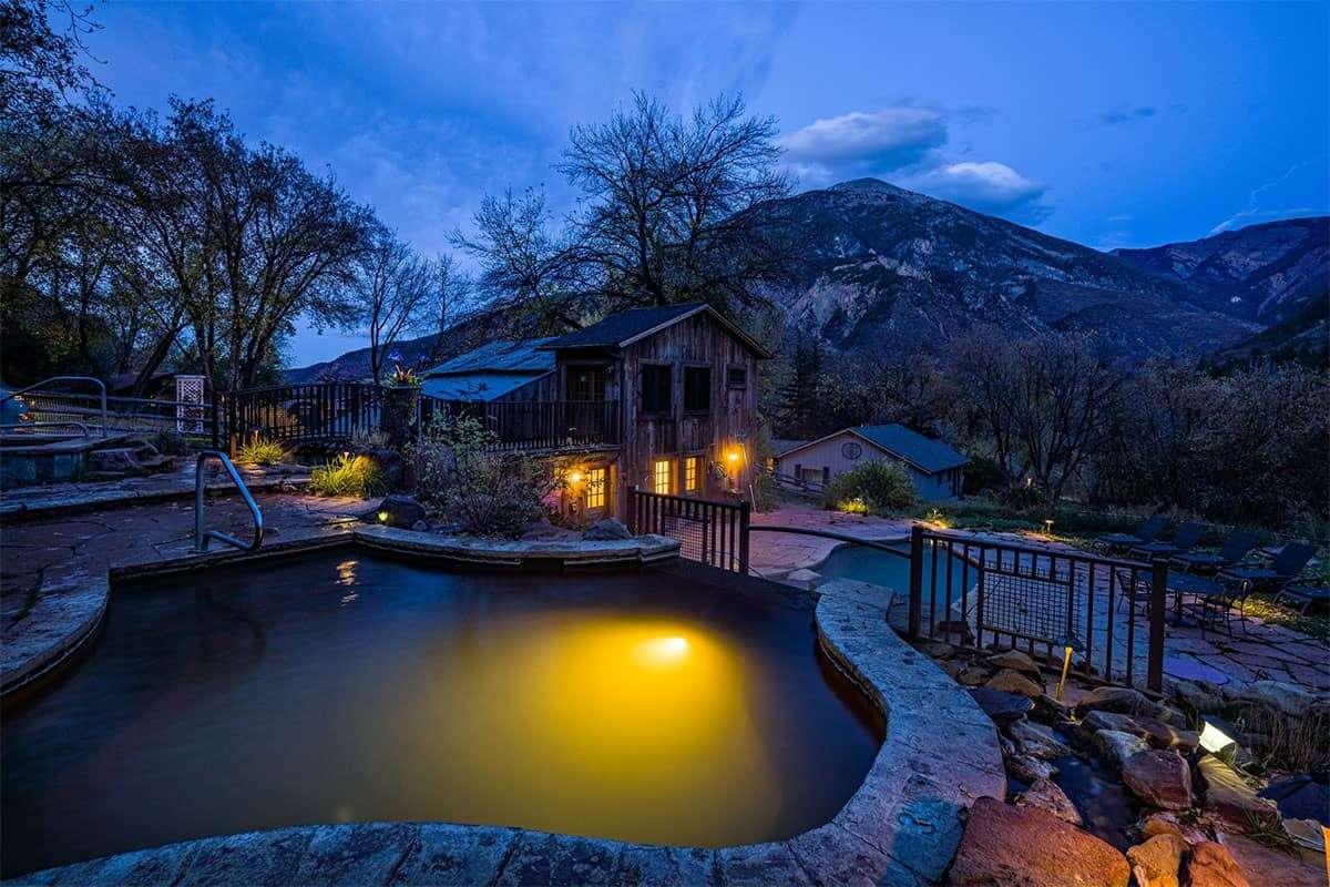 Avalanche Ranch Pools at Night 92sm