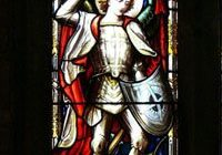 Michael Stained Glass Narrow Cropped